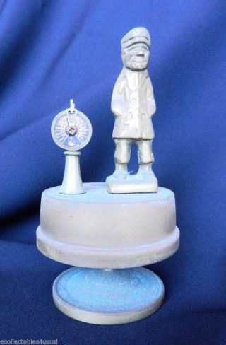 Music Box Sailor Playing Rain Drops Keep Falling On My Head Brass Telegraph photo