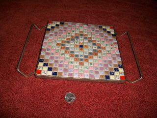 Retro Vintage Tile Hot Plate,  Lots Of Color photo
