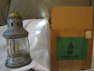 Vintage Perko Fig 19 Galvanized Anchor Oil Lamp Circa 1960