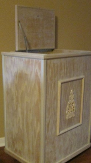 Custom Made Solid Wood Kitchen Trash Cabinet,  Local Pickk Up Only photo