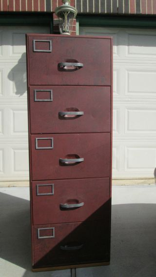 Office / Home 5 Drawer Legal Size Heavy Steel File Cabinet. ,  Local Pickk Up Only photo