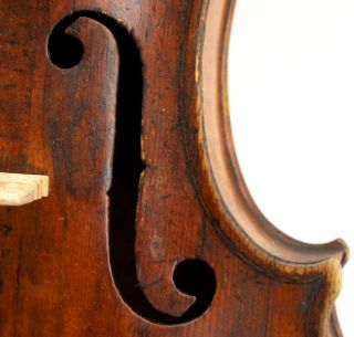 Great Old Antique Saxon Violin C.  1825 With Concert Quality Sound - photo