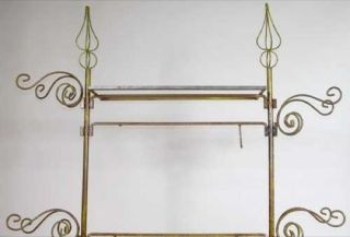 Set Of Vintage Italian Painted Wrought Iron Store/ Clothing Display Fixtures photo