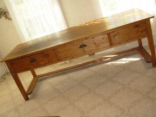 Antique Hard Pine Harvest Table - 200 Yrs Old photo
