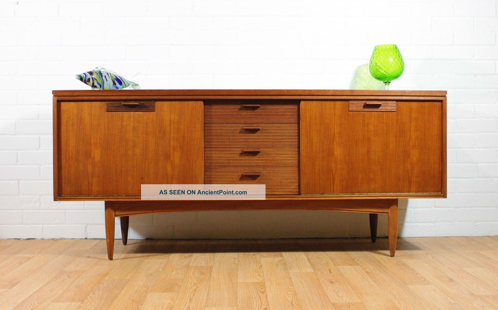 Wow Mid Century Credenza /buffet By White And Newton.  Retro.  Danish Inspired Post-1950 photo