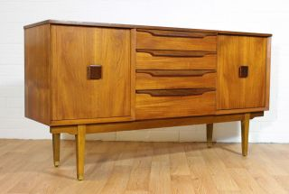 Mid Century Danish Inspired Teak Credenza/ Buffet/ Tv Console In The Kofod Style photo