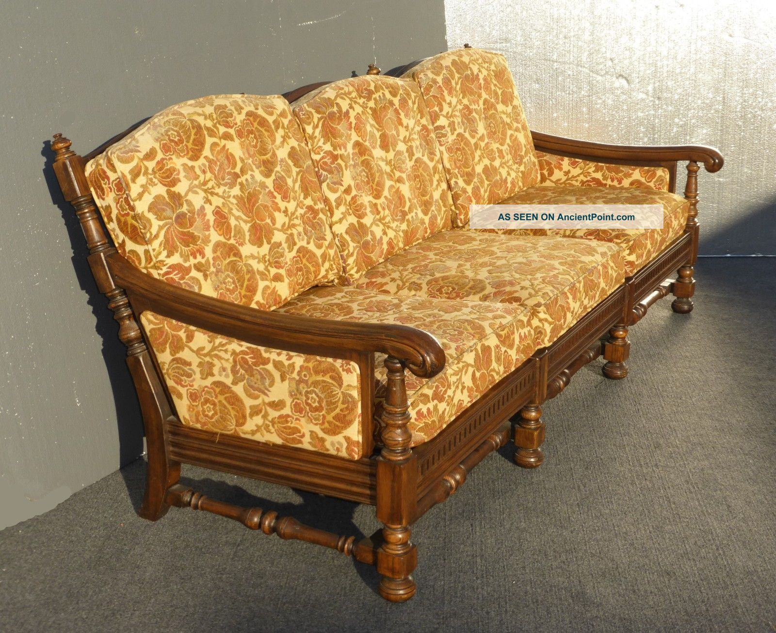 Spanish Revival Sofa Settee Couch