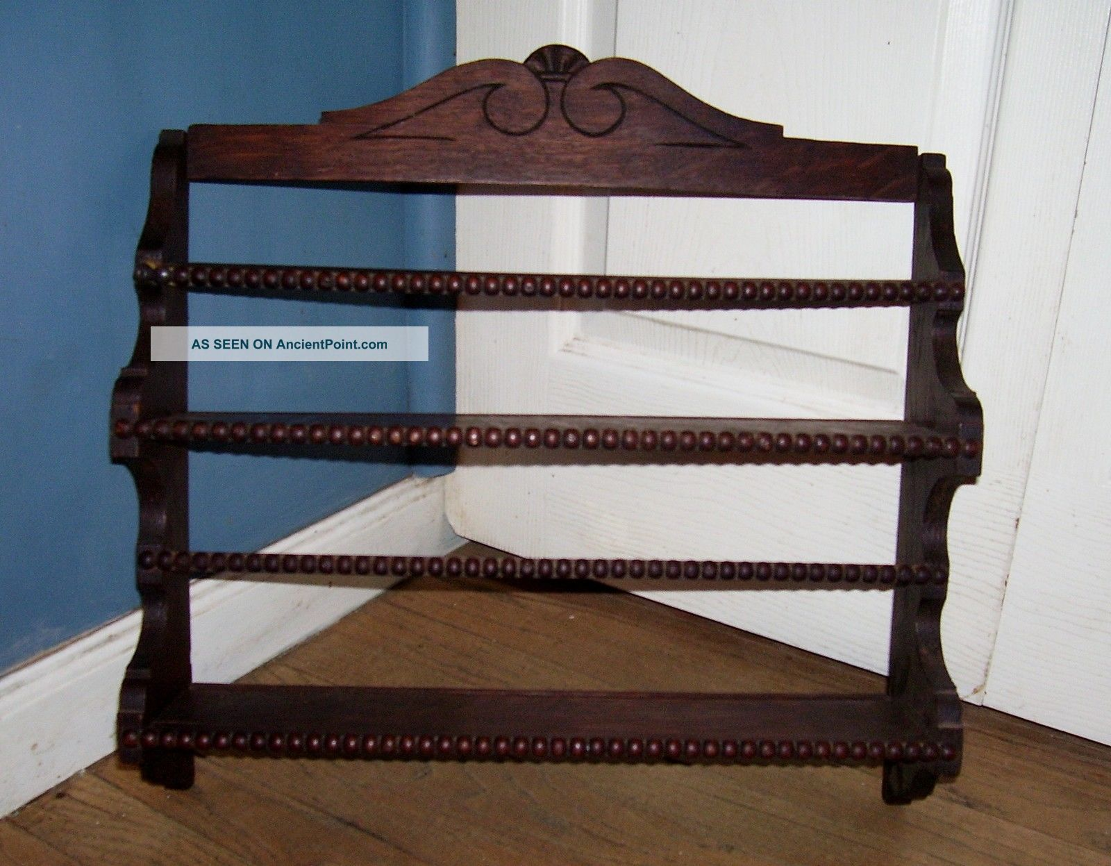 Antique Victorian Shelf Spices Plate Rack Carved Oak Wood Bead Trim Fancy Wall & Antique Victorian Shelf Spices Plate Rack Carved Oak Wood Bead Trim ...