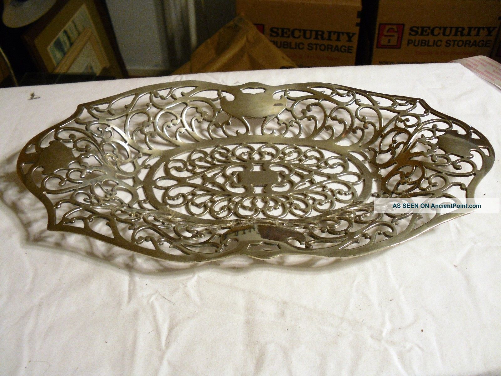 Nickle Silver Plate Reticulated Basket/tray 2255 Vintage Apollo Quadruple Plate Baskets photo