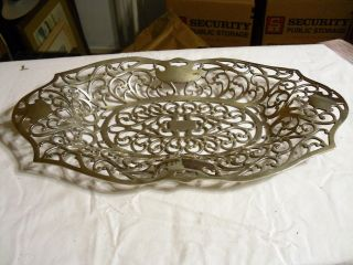 Nickle Silver Plate Reticulated Basket/tray 2255 Vintage Apollo Quadruple Plate photo
