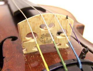 Antique Full Size 4/4 Violin De Luxe Aubert Bridge photo