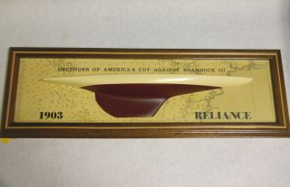 Nautical Collectible Ships Wood Half Model - Reliance 1903 Defender Americas Cup photo