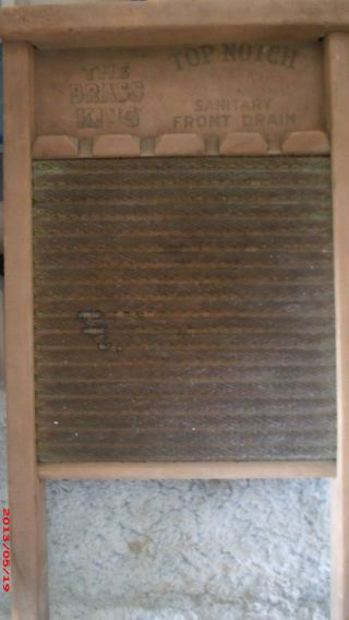 Antique National Washboard Co.  No.  801 Laundry Wahsboard