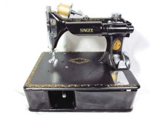 1921 Singer Electric Sewing Machine Model 24 - 80 Chain Stitch With Triplets Decal photo