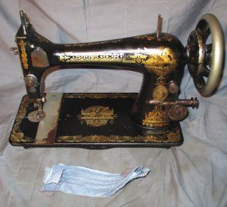 Rare Serviced Antique 1901 Singer 27 Sphinx Treadle Sewing Machine Works C - Video photo