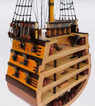 Hms Victory Cross Section Wooden Tall Ship Model Lord Nelson ' S Flagship photo