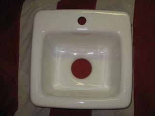 Antique Porcelain Cast Iron White,  Kitchen - Utility Room - Bathroom Sink Fine Cond photo