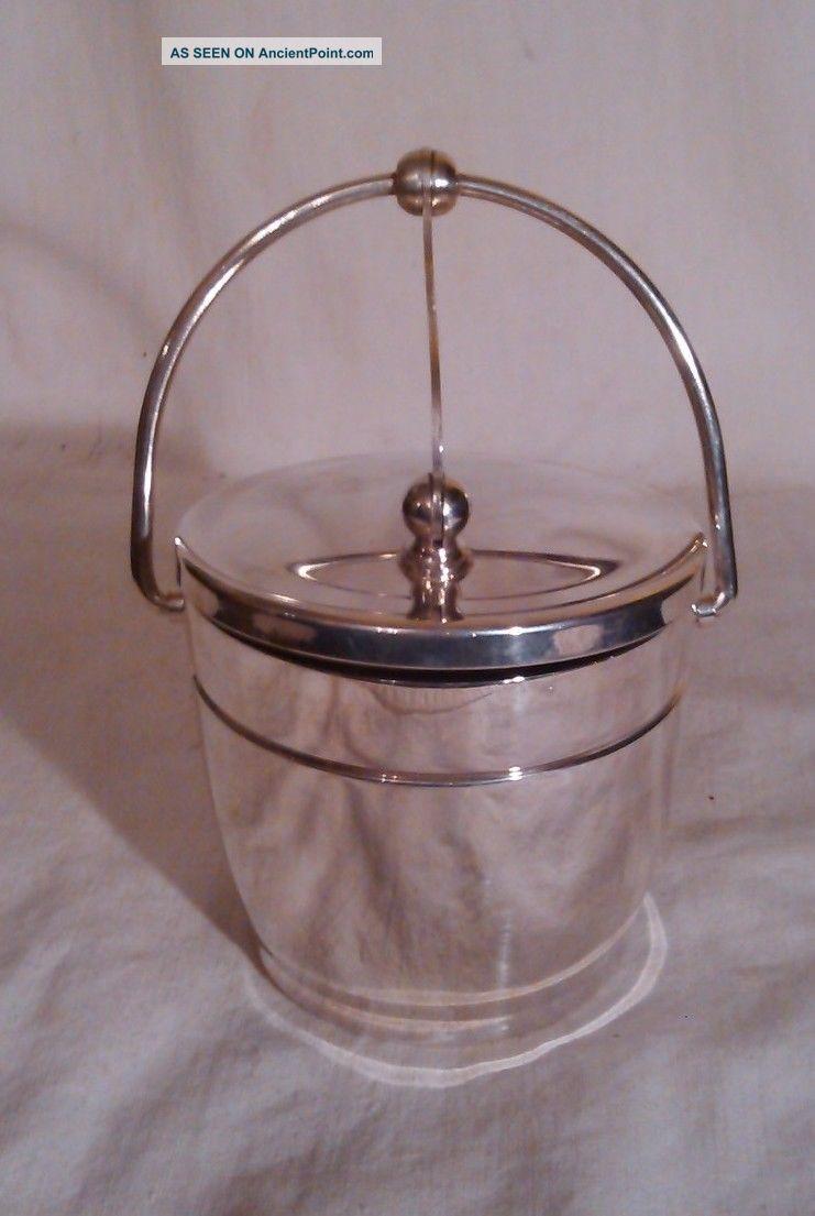 Wallace Silver (sp) Sugar Bowl W/mechanical Lid. Creamers & Sugar Bowls photo