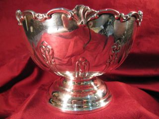 Vintage Sterling Pedestal Bowl - English Sheffield - Deakin ? 1912 ? - photo