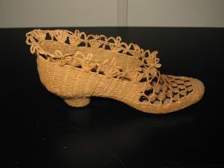 Sailor ' S Whimsy Maritime Folk Art Knotted Rope Shoe 19th Century One Of A Kind photo
