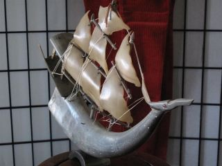 Antique Chinese Sailing Junk …made From Water Buffalo Horn. . . photo