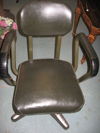 Vintage Mid Century Industrial Steel Chromcraft Office Desk Chair photo