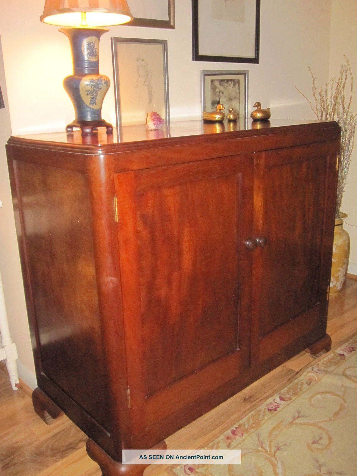 Mahogany Sideboard/cabinet,  Vintage 1900-1950 photo