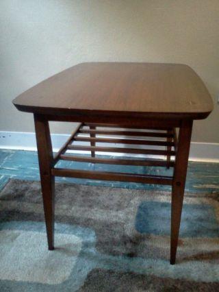 Vtg Mid Century Danish Modern Walnut End/side Tables By Lane photo