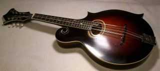 1920 Gibson H4 Mandola,  Repaired Neck New Frets/finish,  Ready To Play,  Ohsc photo