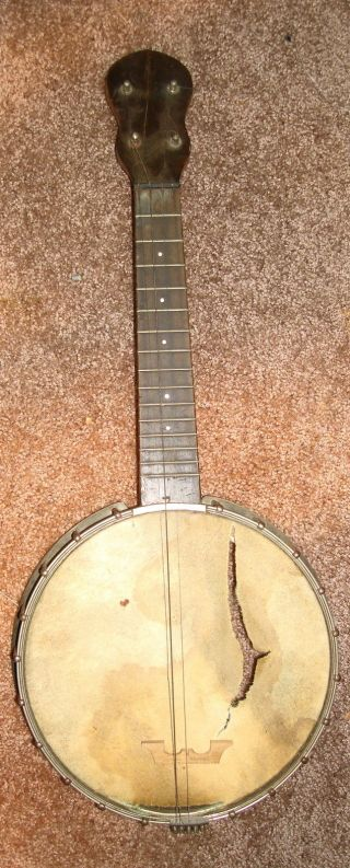 """house Of Stathopoulo"" Epiphone Banjo Ukulele 1920 ' S? Open Back 8 - 1/2"