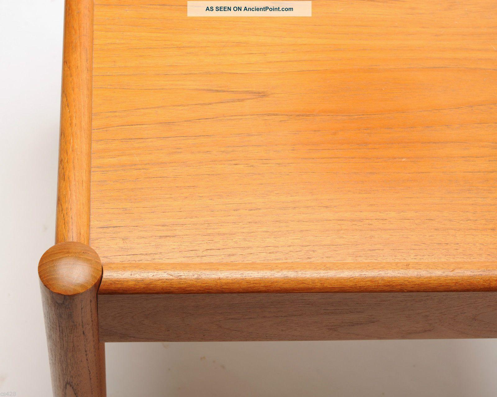 Vintage Domino Mobler Denmark Side End Table Teak Wood Danish Mid ...