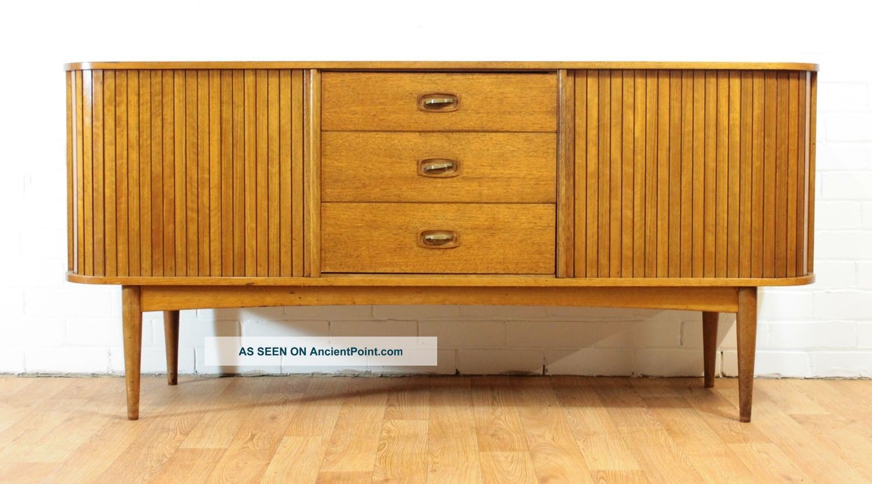 Tambour Door Mid Century Credenza/buffet/dresser By Austinsuite.  Retro.  Mcm Post-1950 photo
