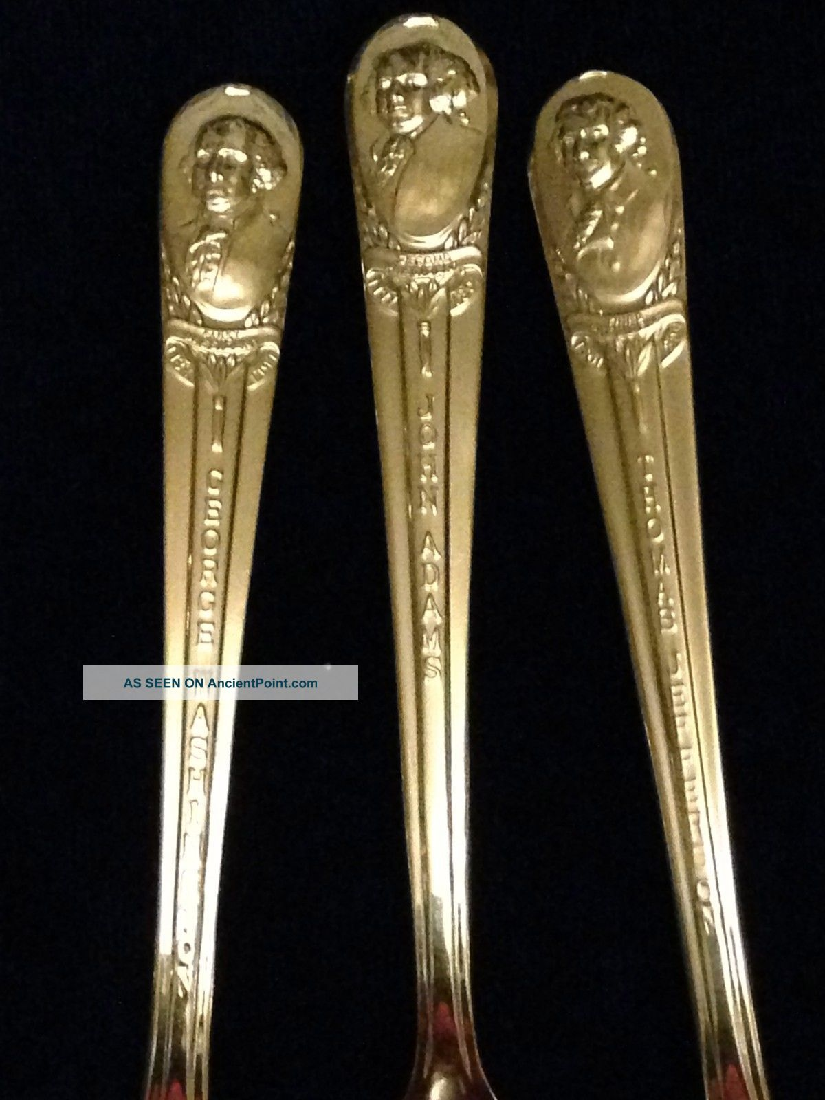 Set Of 3 Wm.  Rogers Mfg Co.  Silverplated President Commemorative Souvenir Spoons Souvenir Spoons photo