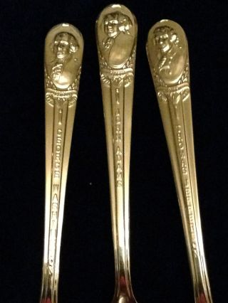 Set Of 3 Wm.  Rogers Mfg Co.  Silverplated President Commemorative Souvenir Spoons photo