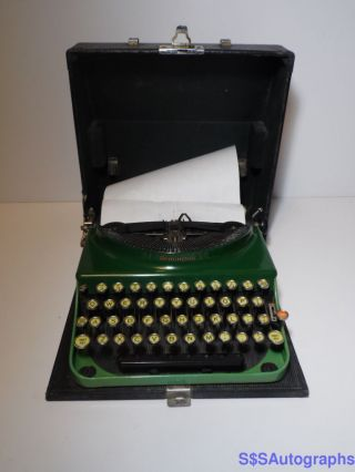 Rare Vintage Antique 1930 Remington Standard Portable Green Typewriter V222556 photo