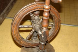 Spinning Wheel Part Circa 1800s Antique Primitive Wood Parts photo