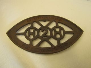 Antique Cast Iron Trivet - H2h - Humphrey Gas Iron - General Specialty Company photo