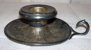 1881 Rogers No.  5609 Silver - Plated Candle Holder photo