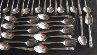 Wm Rogers Ts Presidential Silver Spoon Set photo