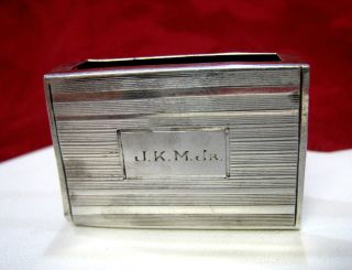 Sterling Silver 5077 Mini Matches Box Case Holder 10 Grams photo