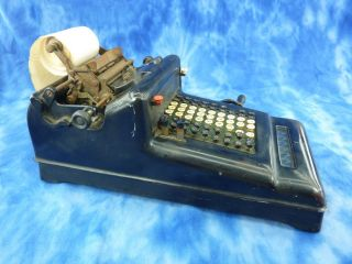 Antique Burroughs Adding Machine Working Keys With Handle Non Add Repeat Keys photo