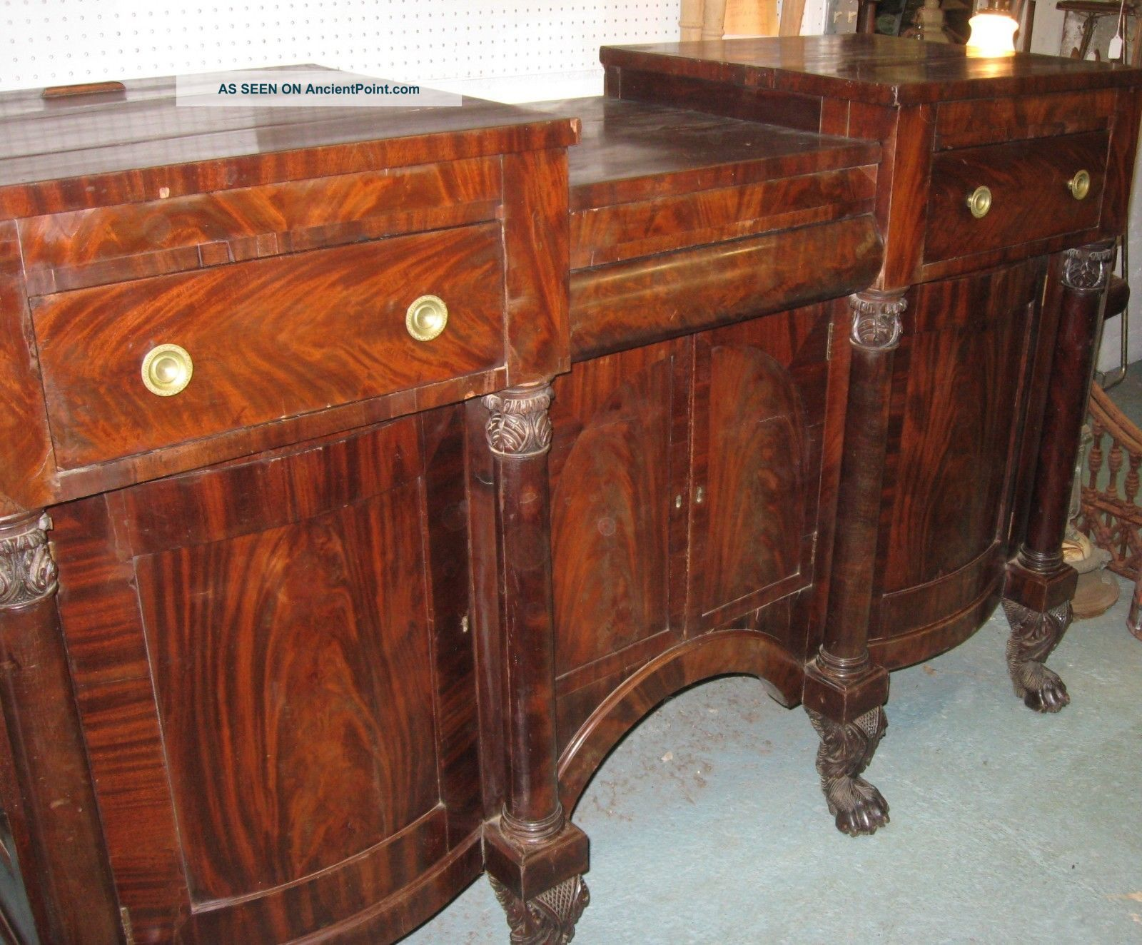 Anthony Quervelle Attributed Sideboard,  C.  1830s 1800-1899 photo