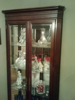 Solid Cherry Corner Cabinet - Fits In The Corner Of 2 Walls photo