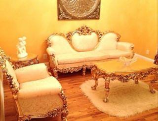 Vintage Italian Silik 4pcs 24kt Gold Plated Sofa Set photo
