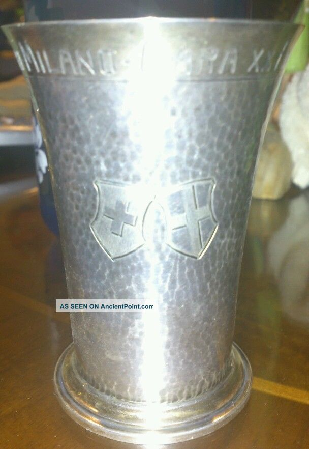 1909 Silver Swiss Trophy Cup Silver Alloys (.800-.899) photo
