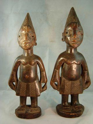 118,  Authentic Egba Abeokuta Ibeji Male & Female Pair,  Yoruba / Santeria photo