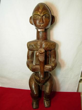 Exquiste & Unique Fang Bieri Reliquary Figure With Brass Sheeting,  Gabon photo