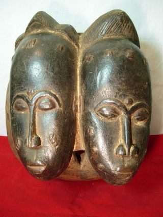 148,  Baule Double Face Mask,  Ivory Coast photo