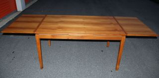 Danish Modern Teak Refractory Extension Dining Table photo