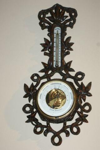 Carved Dutch Barometer photo